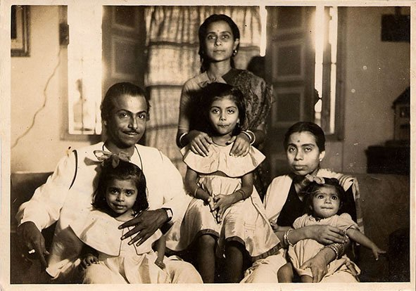 (Left to Right) My grandfather Salil Chowdhury with my aunt Tulika, his sister Lily with my eldest aunt Aloka, and my grandmother Jyoti Chowdhury with my mother, Lipika. Bombay, Maharashta. Circa 1959