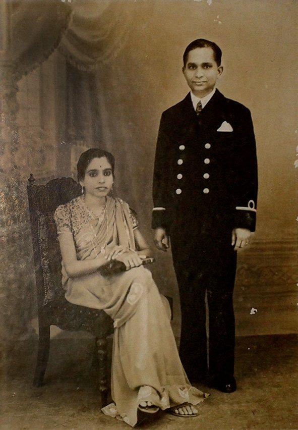 My Parents, K. M. Devaki Amma & Lt. Cdr. P.P.K. Menon. Bombay. 1941