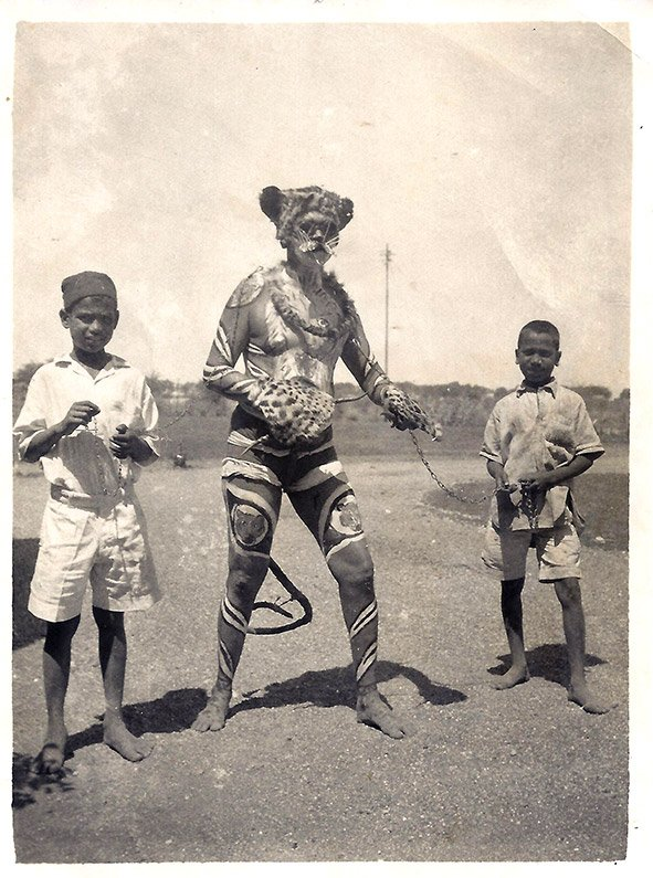 The Tiger Man, Jabalpur, Madhya Pradesh. Circa 1930