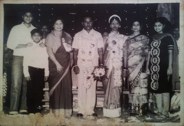My Wedding Reception. Bandra, Bombay. February 14, 1982
