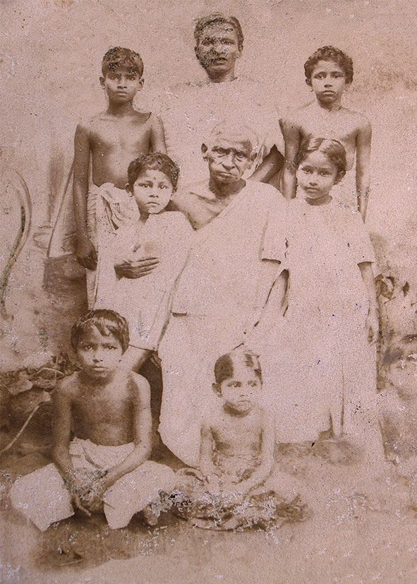My great-great grand father's younger brother, Govindan Achari with his grand nephews. Thiruvananthapuram, Kerala.1930