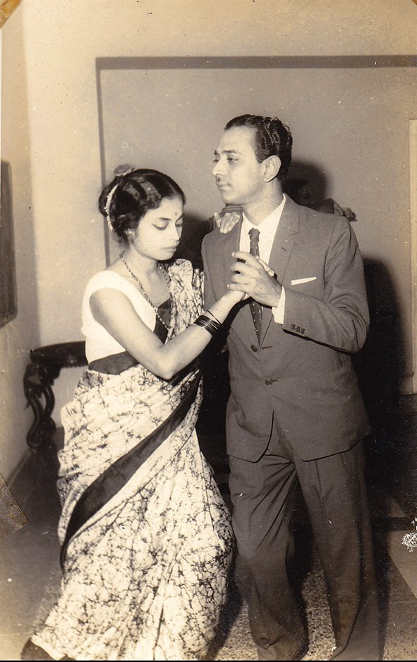 My Grandparents, Shobhendra Nath and Gouri Tagore. Calcutta. West Bengal. Circa 1950