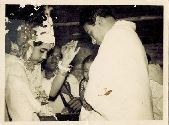 My parent's wedding ceremony. Howrah, West Bengal. January 19, 1964.