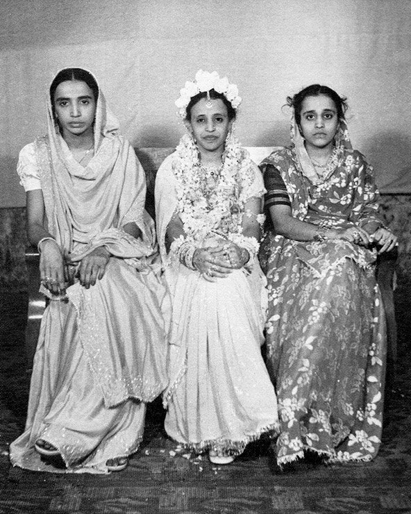 My aunts Zehra, Zainab and mother, Rubab Bombay. Circa 1946