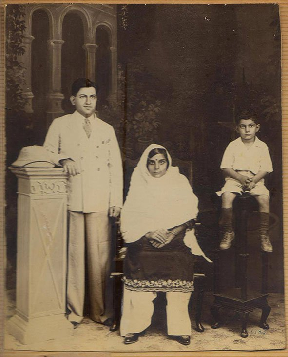 My father, Anand Prakash Bakshi as a child with his parents. Rawalpindi. (now Pakistan). Circa 1930