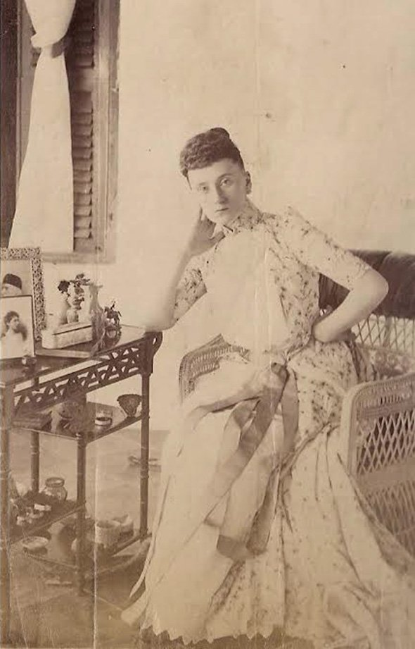 My great-grandmother May Stokes. Vallum, Madras, Tamil Nadu. Circa 1895
