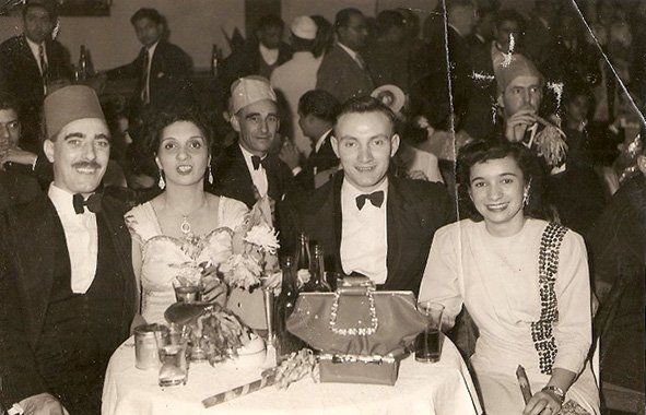 My grandparents, mother and her boyfriend. The Great Eastern Hotel. Calcutta, West Bengal. 1946