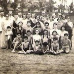 Our family and friends at the Juhu Beach. Bombay. 1941