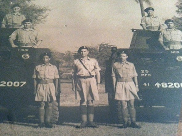 Standing in the middle, my grandfather George O'Brien. Delhi. Circa 1947