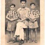 My grandfather Faizullah Baba with my uncles Abdullah and Majid. Darjeeling, India. Circa 1957