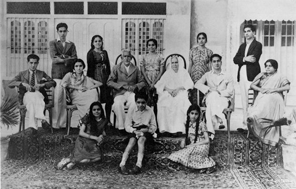 My mother Indra's family. Karachi (now Pakistan). Circa 1930