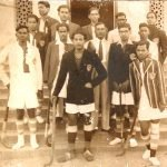 My grandfather Surendra Behra (right most) with his hockey team mates. Utkal University, Cuttack, Orissa (now Odisha). November, 1949.
