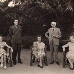 My great-grandfather, Gustav Hermann Krumbiegel and great-grandmother Klara, with their family at home. Bangalore, Mysore Presidency (now Karnataka). Circa 1935