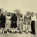My grandfather S. Gurdial Singh (standing right) and his fraternal twin brother S Harminder Singh (standing second from left) with staff from the Consulat général de France (Embassy of France). Connaught Place, New Delhi. 1949