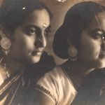 My mother Manobina and aunt Debalina. Calcutta, West Bengal. Circa 1940
