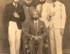 My grandfather, Dr. Preetam Pal Singh (seated) with his college mates at the King Edward Medical College. Lahore (Now Pakistan) Circa 1933